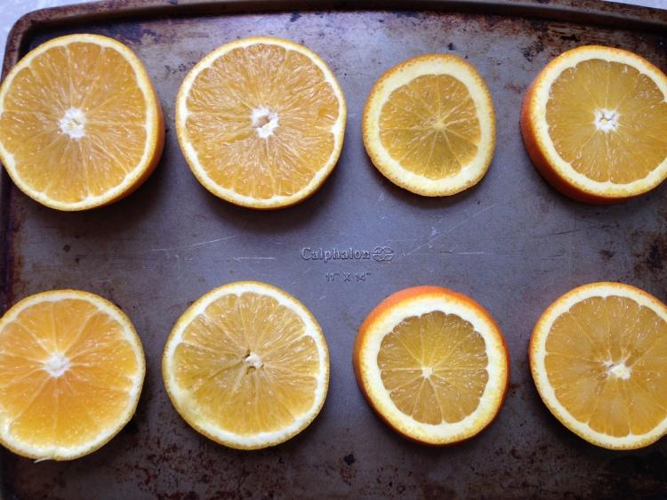 8 oranges
