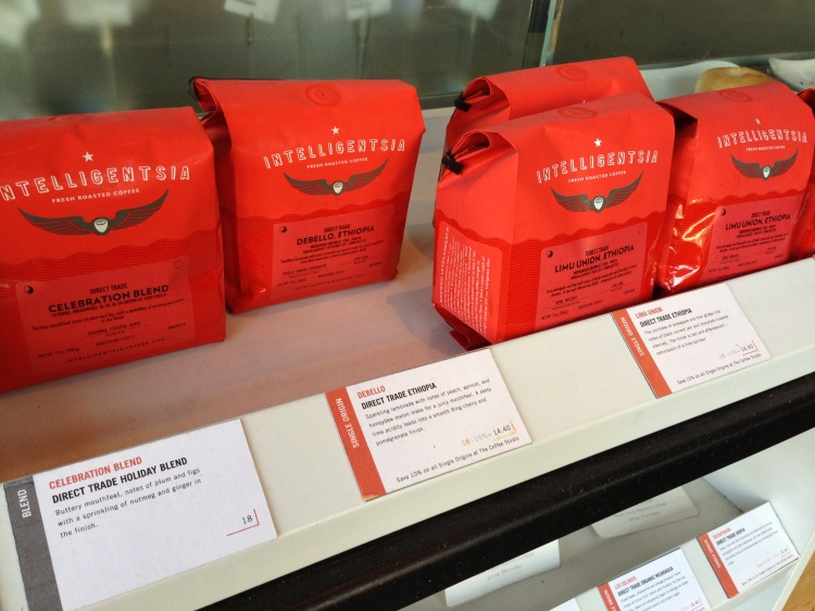 Serving local Intelligentsia coffee