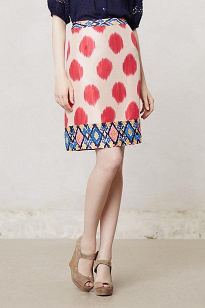 Watercolor Ikat Skirt