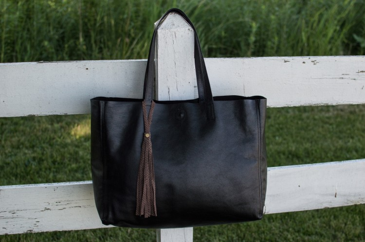 'Slouchy Shopper' Black Tote